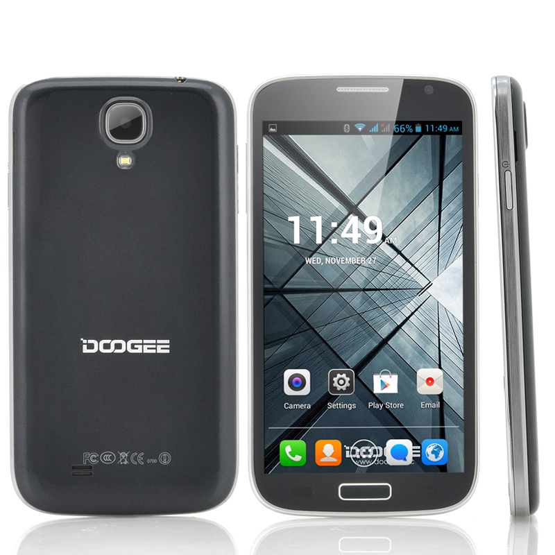 DOOGEE Voyager DG300 Dual Core Android 4.2 Cell Phone - 5 Inch IPS Screen, 960X540 QHD, MT6572 1GHz CPU (Blue)