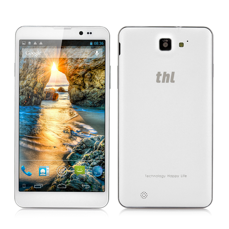 thl T200 MTK6592 True Octa-Core Phone - 6 Inch Gorilla Glass IPS Capacitive Screen, 1920x1080, 32GB ROM, NFC, Android OS (White)