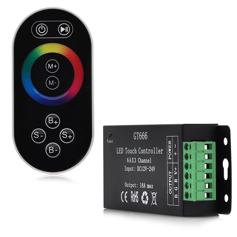 LED RGB Strip Controller - 64 Colors, Adjustable Speed, Ability to Dim