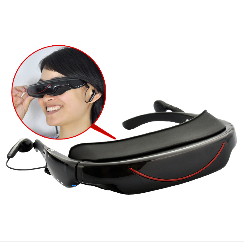 Portable Video Glasses - 72 Inch Virtual Screen, 4GB, AV function