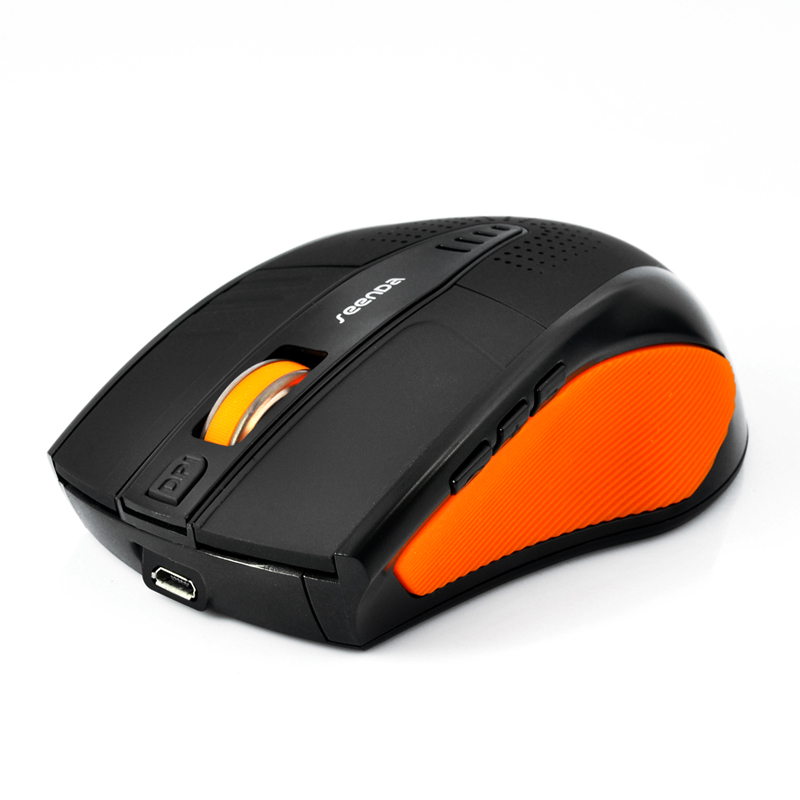Bluetooth Optical Mouse 'Seenda' - 1600DPI, Built-in Speaker (Orange)