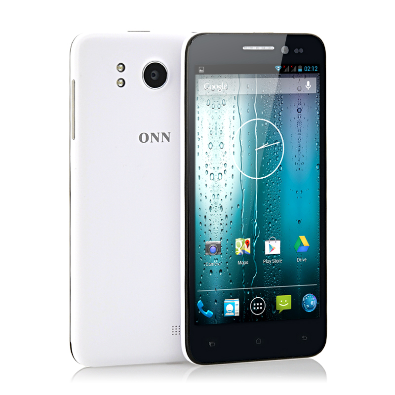 ONN V8 Tiger 5 Inch Slim HD Android 4.2 Phone - 1.5GHz Quad Core CPU, 1GB RAM, 16GB Memory, 13MP Camera