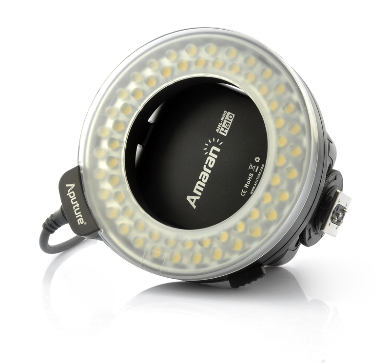 6W Macro Ring Flash Light 'Aputure Amaran AHL-N60' - For Nikon DSLR Cameras, 60 LEDs (White)