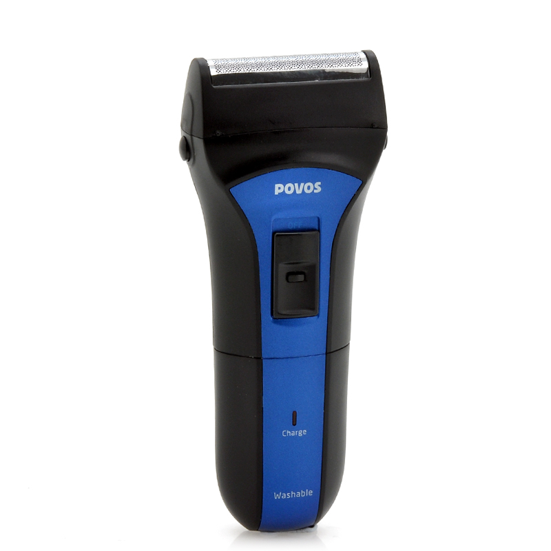 Rechargeable Electric Shaver for Men 'Povos PS2208'- Dual Blade, Trimmer, Washable