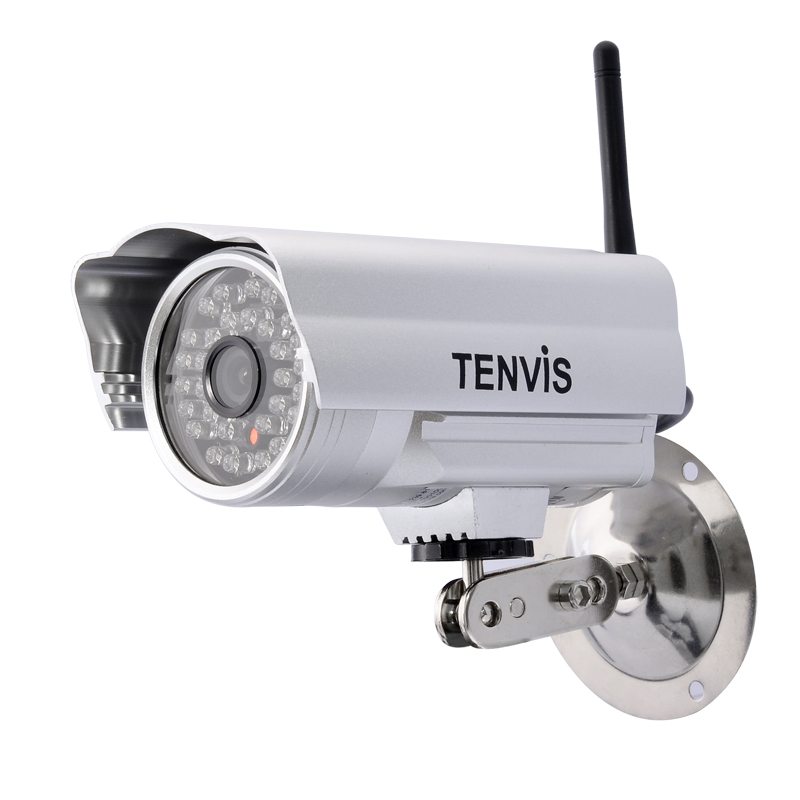 Wireless IP Camera 'Tenvis' - 1/4 CMOS Sensor, Wi-Fi, Night Vision