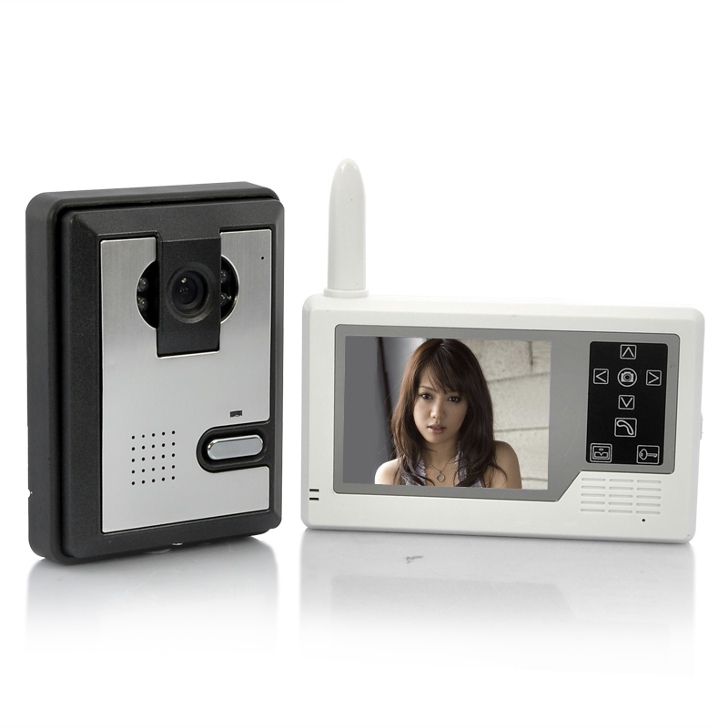 3.5 TFT Wireless Video Intercom Doorbell - 1/4 Inch CMOS, 6 IR LED Lights, 320x240