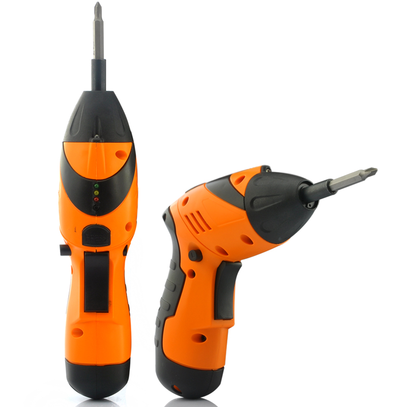 2-in-1 Cordless Adjustable Electric Drill and Screwdriver - Set of 45 Drills and Screw Heads, Rechargeable Battery 4.8V