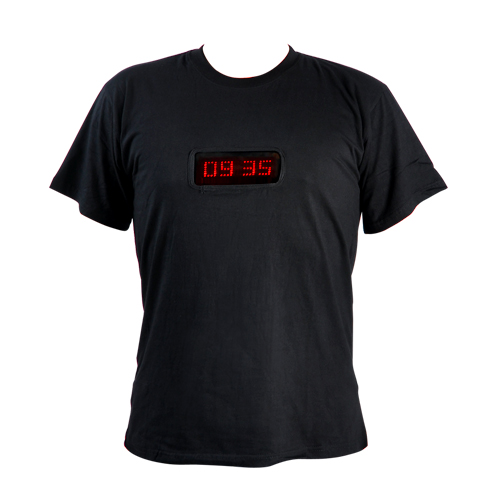 LED Shirt with Time and Programmable Message Display (Large)