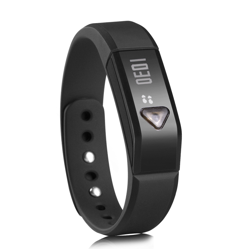 Vidonn X5 Smart Bracelet - Sports + Sleep Tracking, Automatically Syncs w/ Many Devices, Bluetooth 4.0, 3D Sensor, Waterproof