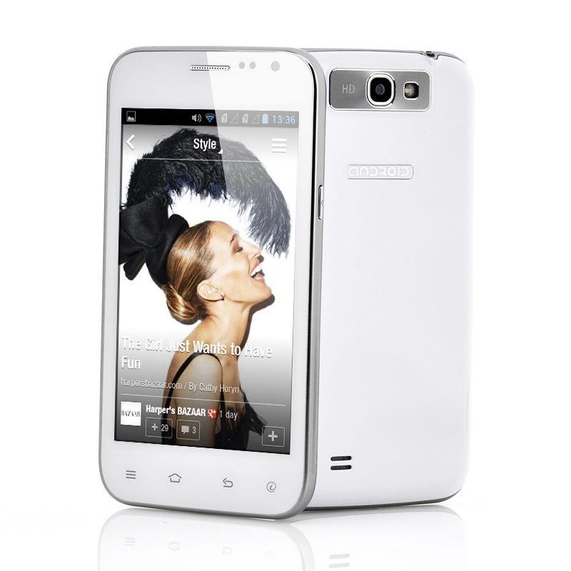 5 Inch Budget Android Phone - 1GHz Spectrum CPU, Mali 400 GPU (White)