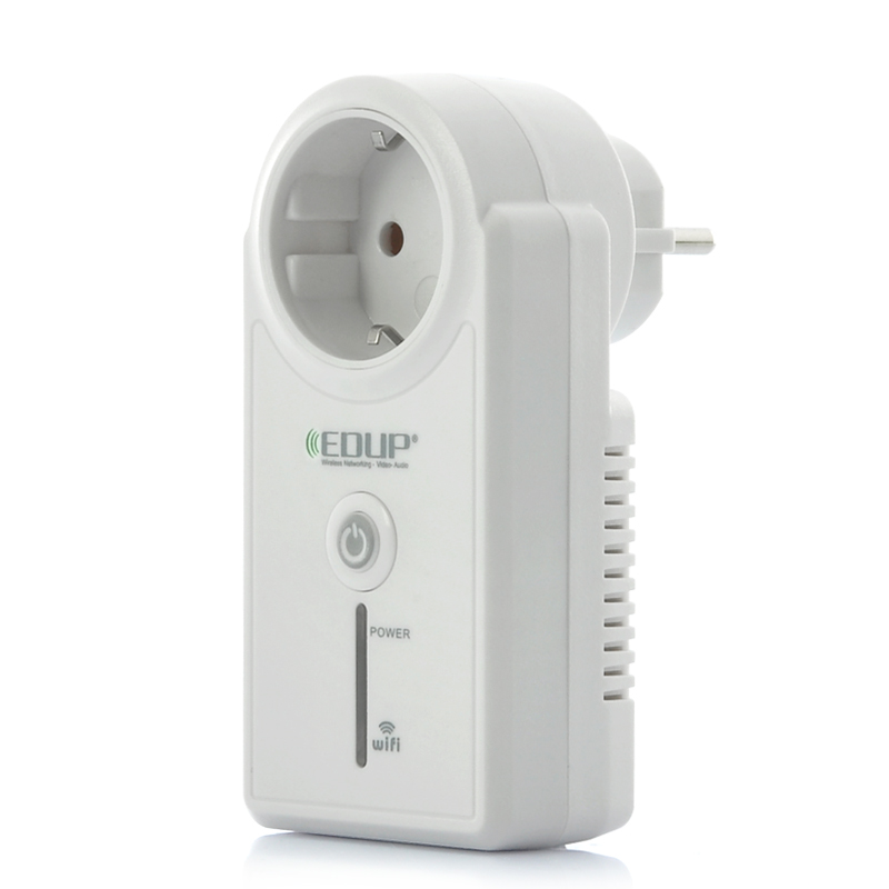 EDUP Wi-Fi Wall Socket - Remote Controlled Via Internet/LAN, Android + iOS Supported, EU Power Supply