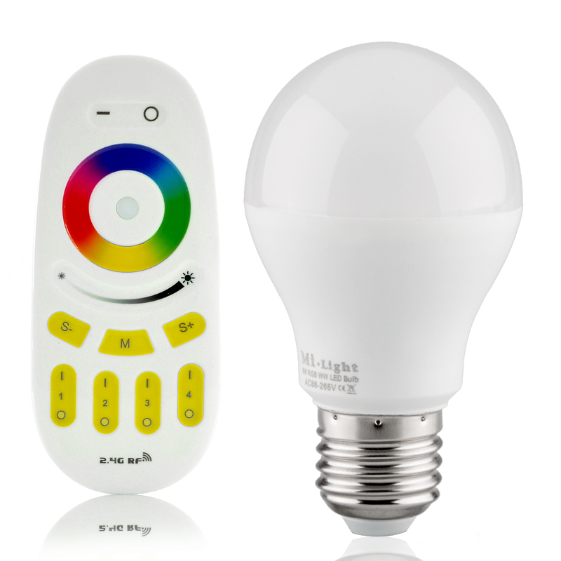 6W RGB LED Light Bulb - Remote Control
