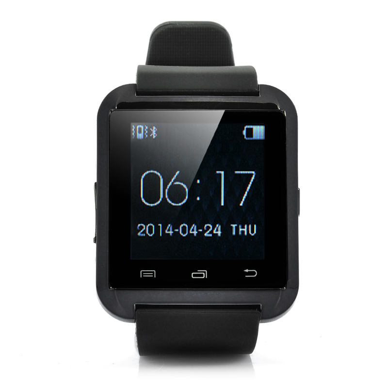 Bluetooth Smart Watch - 1.44 Inch Touch Screen, SMS + Phonebook Sync, Makes + Answers Calls, Pedometer, Thermometer, Altimeter