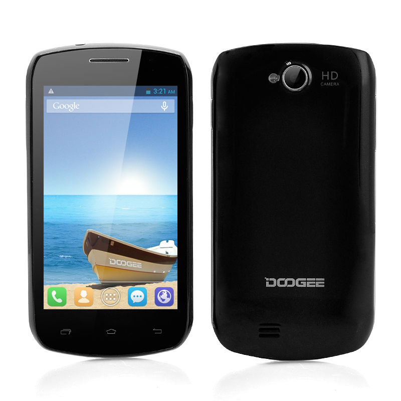 DOOGEE DG110 COLLO 3 Android Smartphone - MTK6572 Dual Core 1.3GHz CPU, 800x480 IPS Capacitive Screen, Android 4.2 OS (Black)
