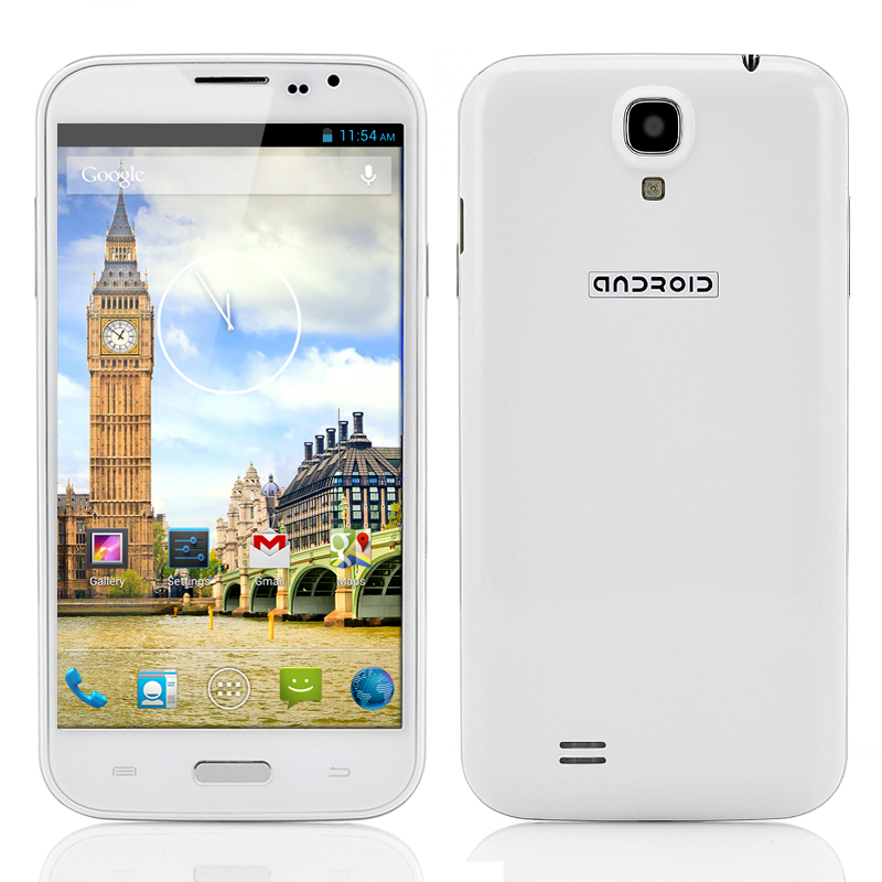 5.9 Inch Android 4.2 Smartphone - Quad Core 1.3GHz CPU, 720p Resolution, 3G Connectivity, 8MP Back Camera/2MP Front