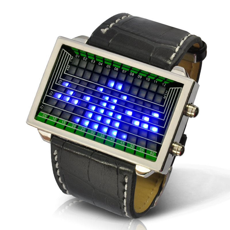 3D Effect LED Watch - Blue LED