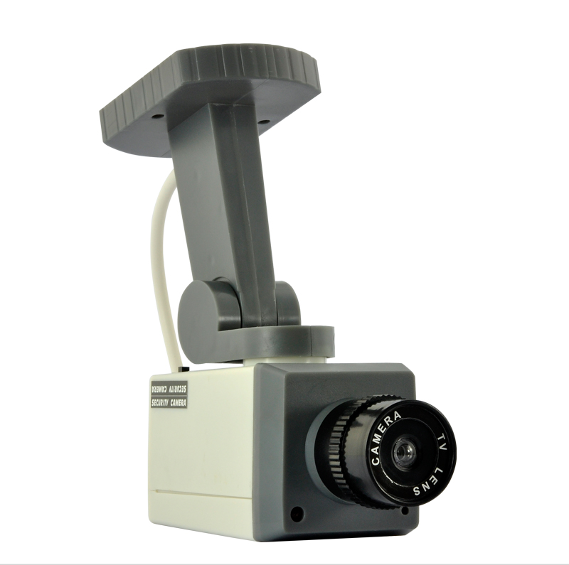 Dummy Security Camera - Real Looking, Motion Detector, Activation Light, Battery Operated, Panning