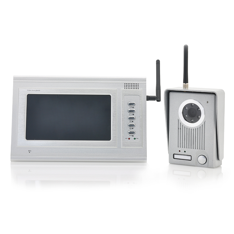 2.4GHz Wireless Video Door Camera Set - 7 Inch Monitor, 300 Meter Range