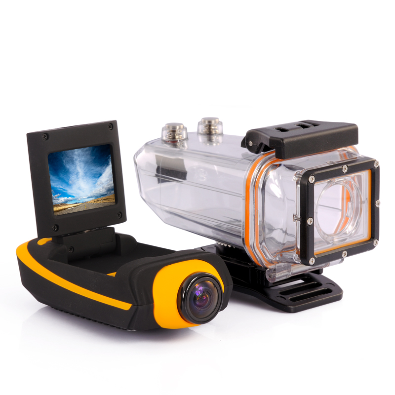 Full HD Sports Action Camera 'ProView HD II' - 1080p, Waterproof Case, HDMI, 4 Mounting Accessories