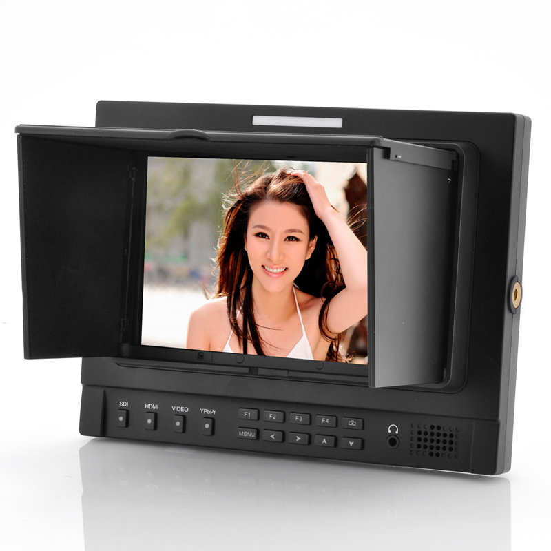 7 Inch On-Camera Broadcast Monitor - Ultra Definition IPS Screen, 4x Zoom, Ypbpr + HDMI + AV Connections
