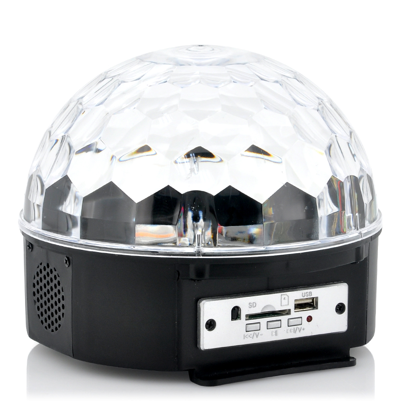 LED Light Ball 'Magistrobe' - Remote Controlled, Music Activated, Plays MP3s